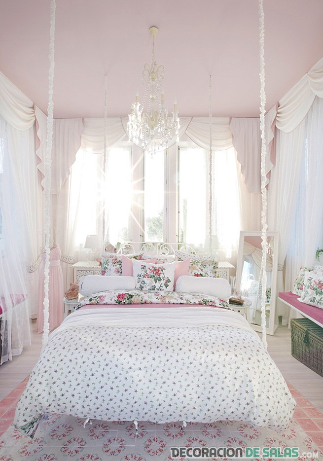 cama colgante decoración romántica