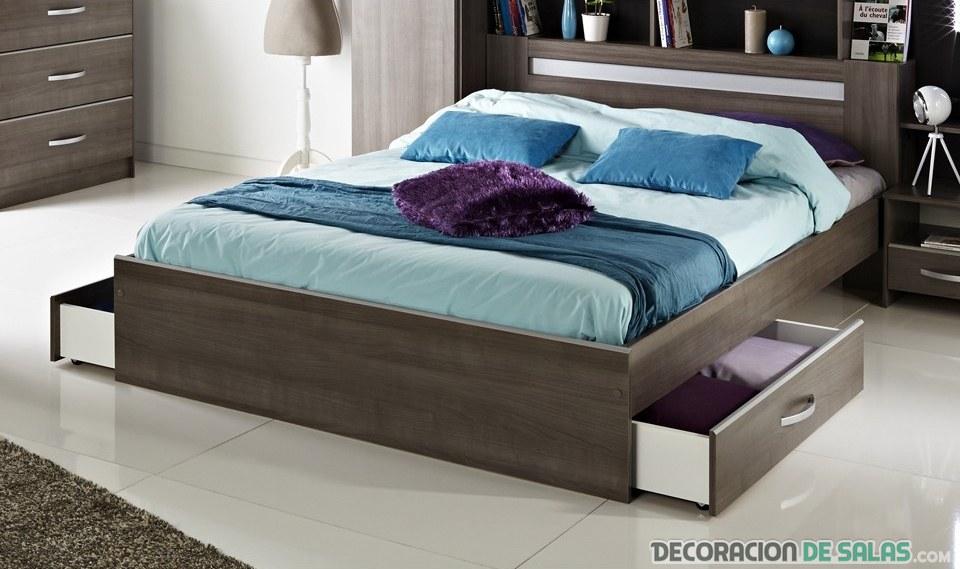 cama con almacenamiento