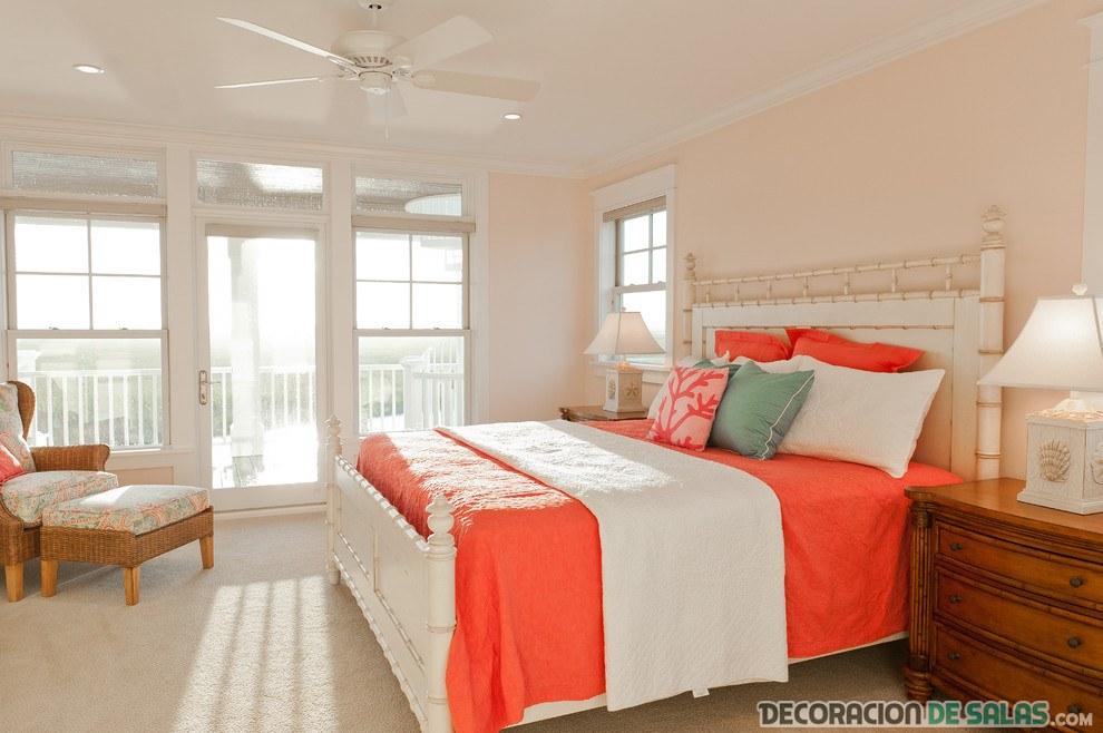cama con color coral muy fuerte