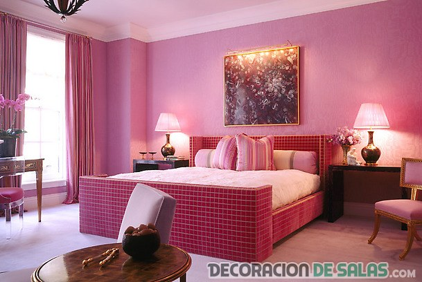 cama rosa para dormitorio juvenil