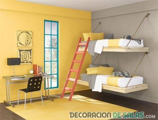 camas colgantes dormitorio niños