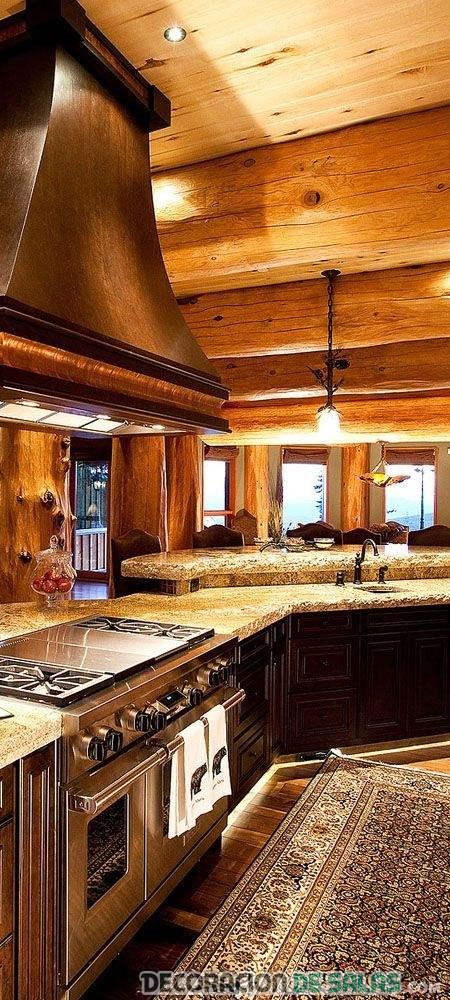 campana cocina de madera