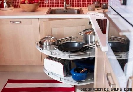 ideas para aprovechar espacio en cocinas