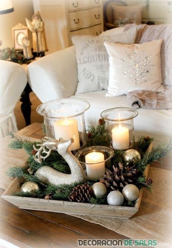 centro de mesa original para navidad