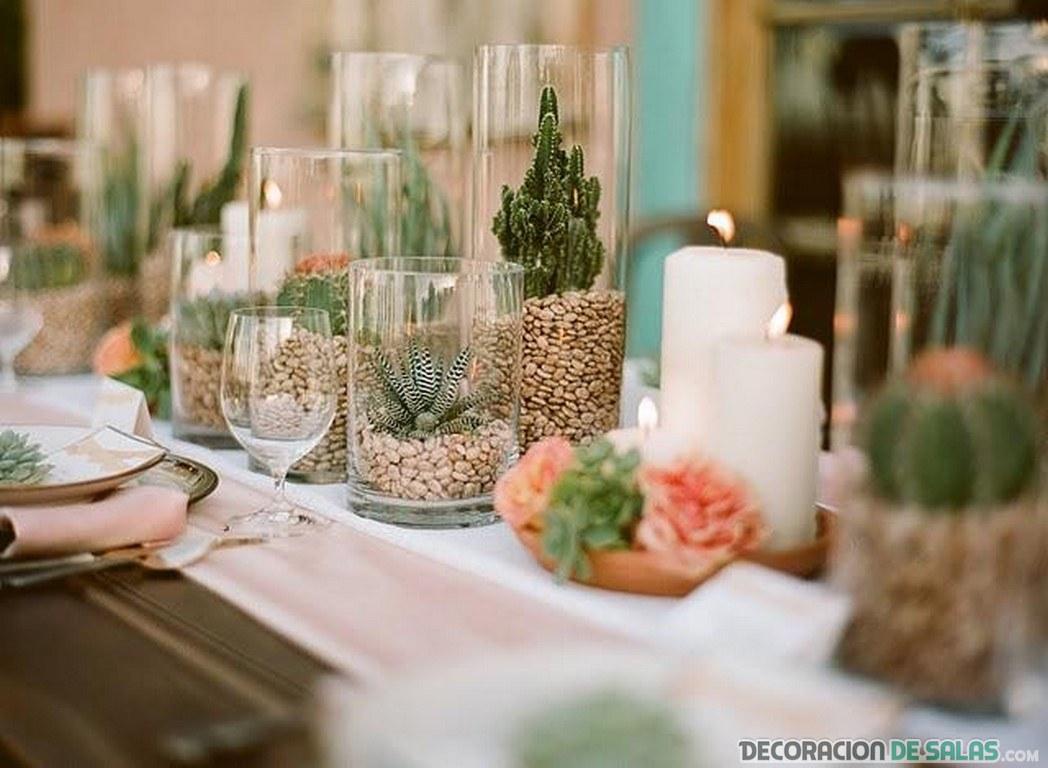 Ideas de centros de mesa para tu sal n decoraci n de salas - Bandejas decoracion salon ...