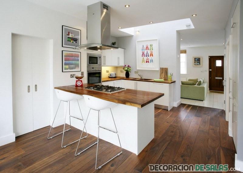cocina abierta moderna