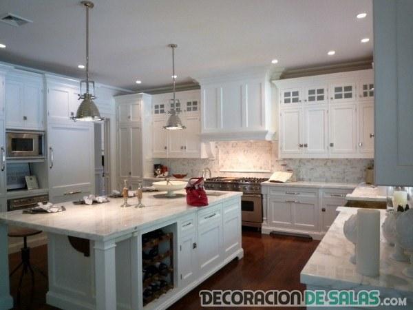 cocina americana en color blanco