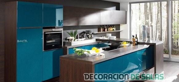 cocina azul clarito