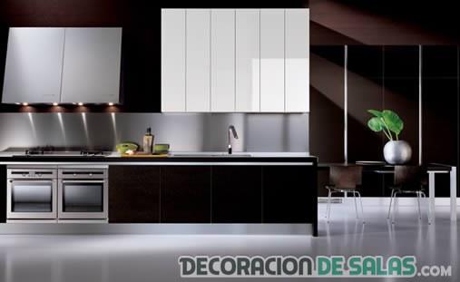 cocina bicolor con frente de cocina