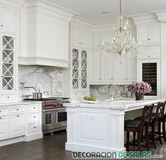 cocina blanca clásica