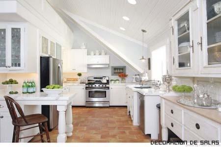 cocina blanca tradicional