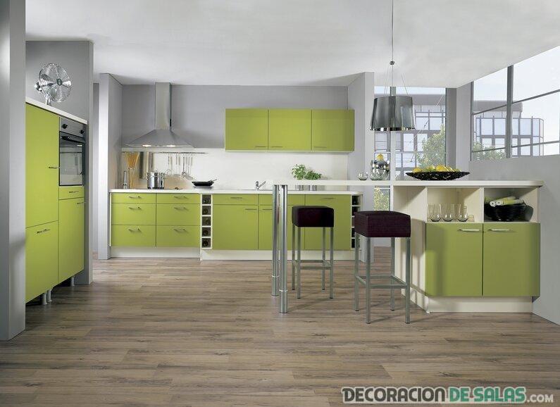 cocina color lima