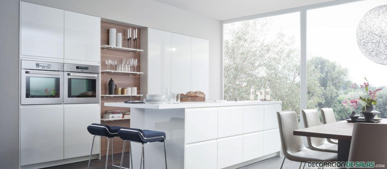 cocina en blanco moderna de leicht
