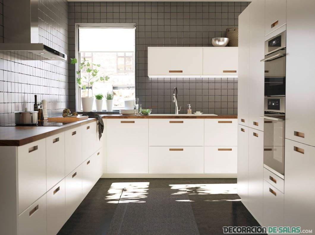 cocina en color blanco de Ikea