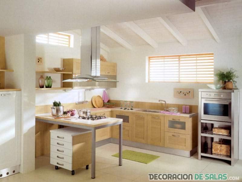 cocina en color marrón