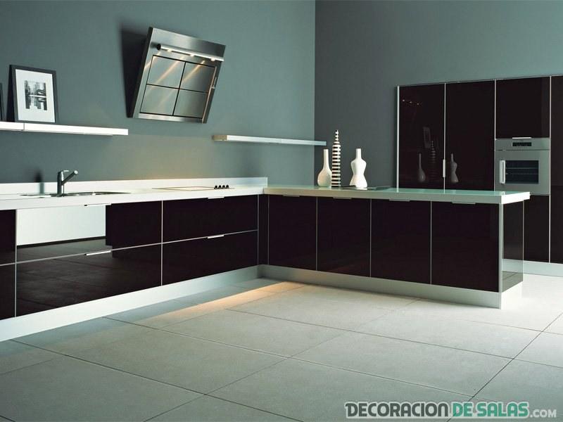 cocina en color negro