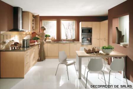 cocina madera y acero