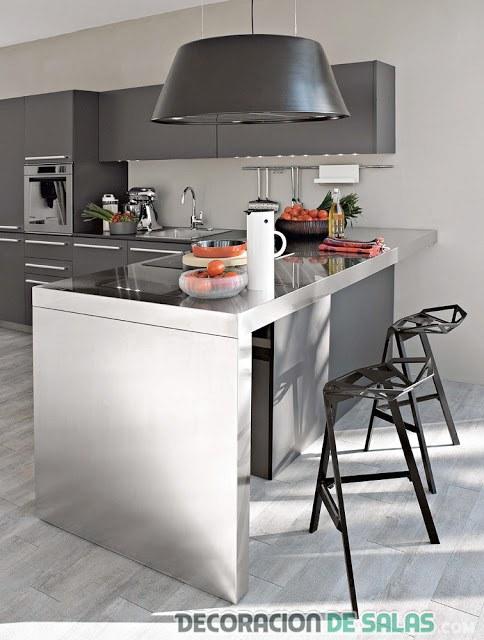 cocina moderna en colores grises