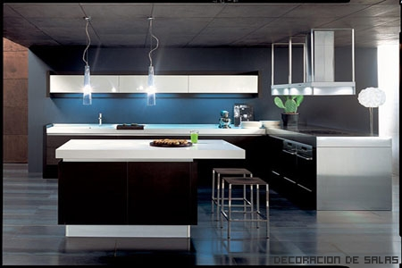 cocina moderna iluminacion