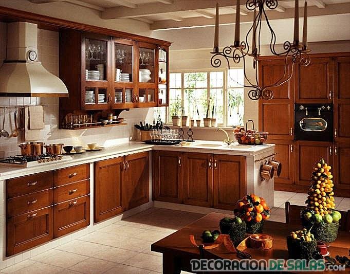 cocina moderna y rústica