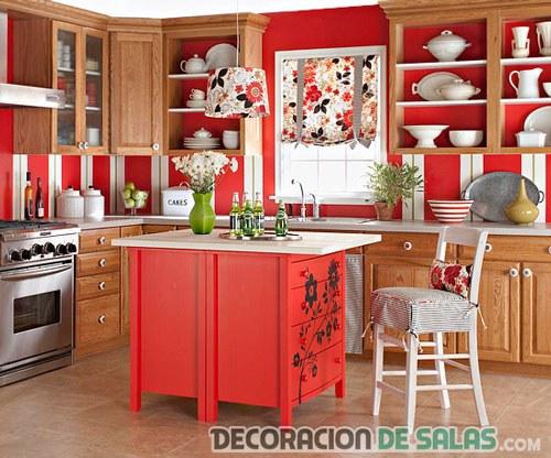 cocina original en color rojo