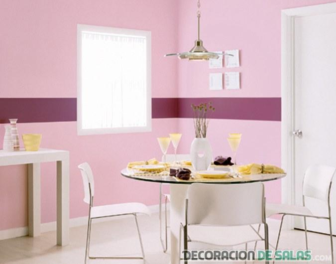 cocina paredes rosa