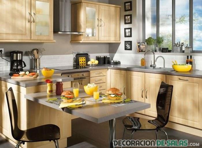 Decorando cocinas pequeñas y cuadradas | Decoración de Salas