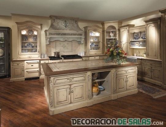 cocina rústica de estilo provenzal