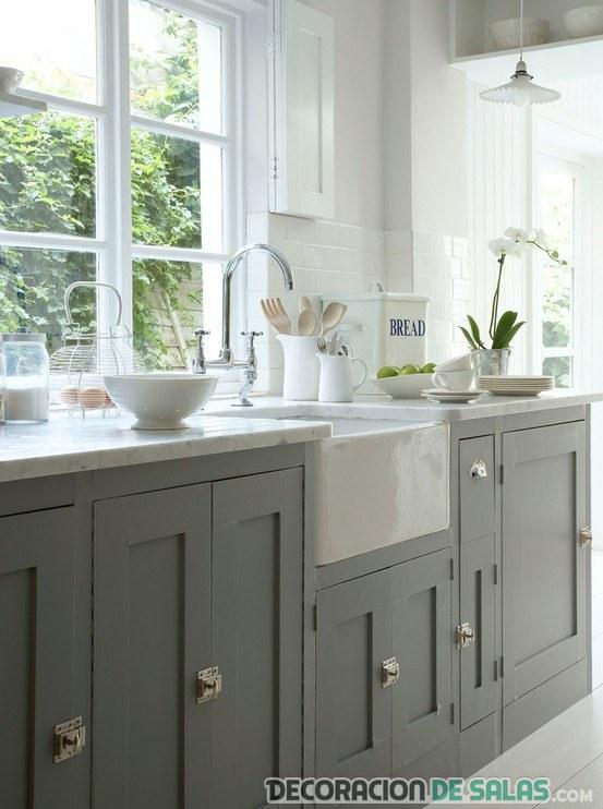 cocina rústica en color gris