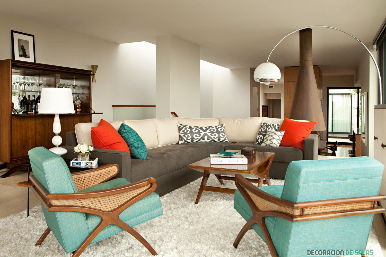 color turquesa para un salón clásico