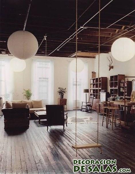 columpios en pisos modernos