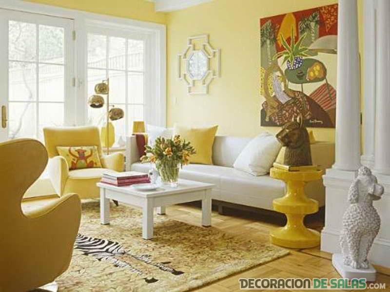 combinación de muebles en amarillo y blanco