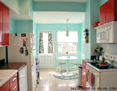 cocinas con colores vintage