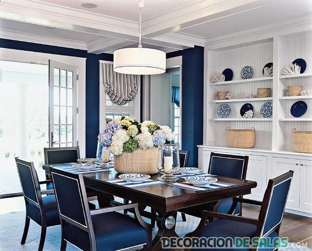 comedor en color azul marino