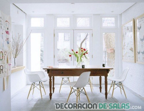comedor en color blanco