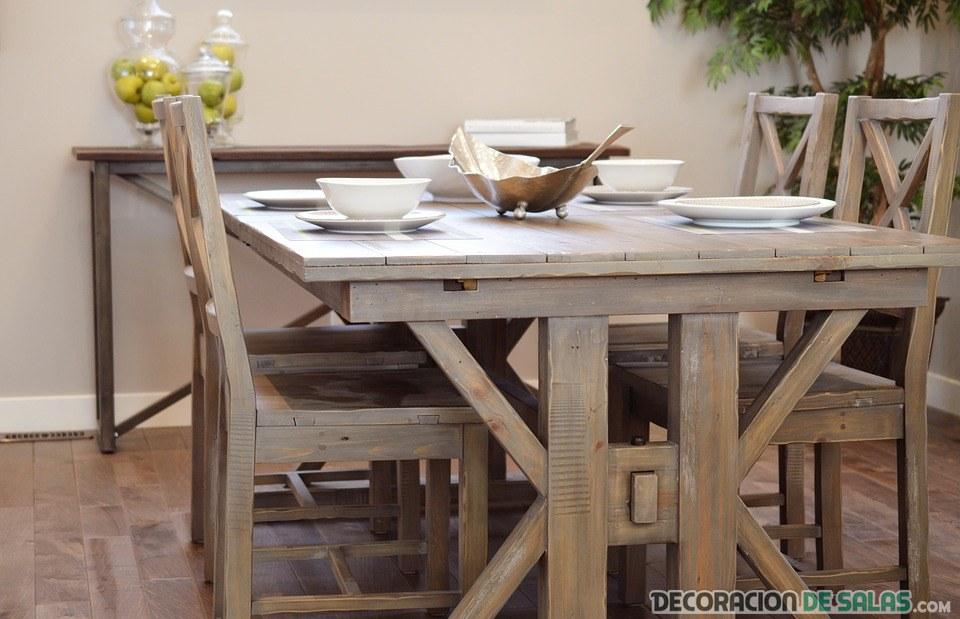 comedor mesa madera rustica
