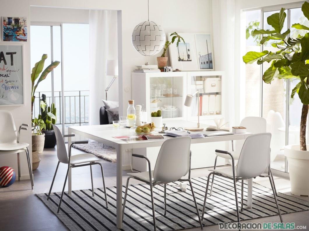 comedor moderno en blanco ikea