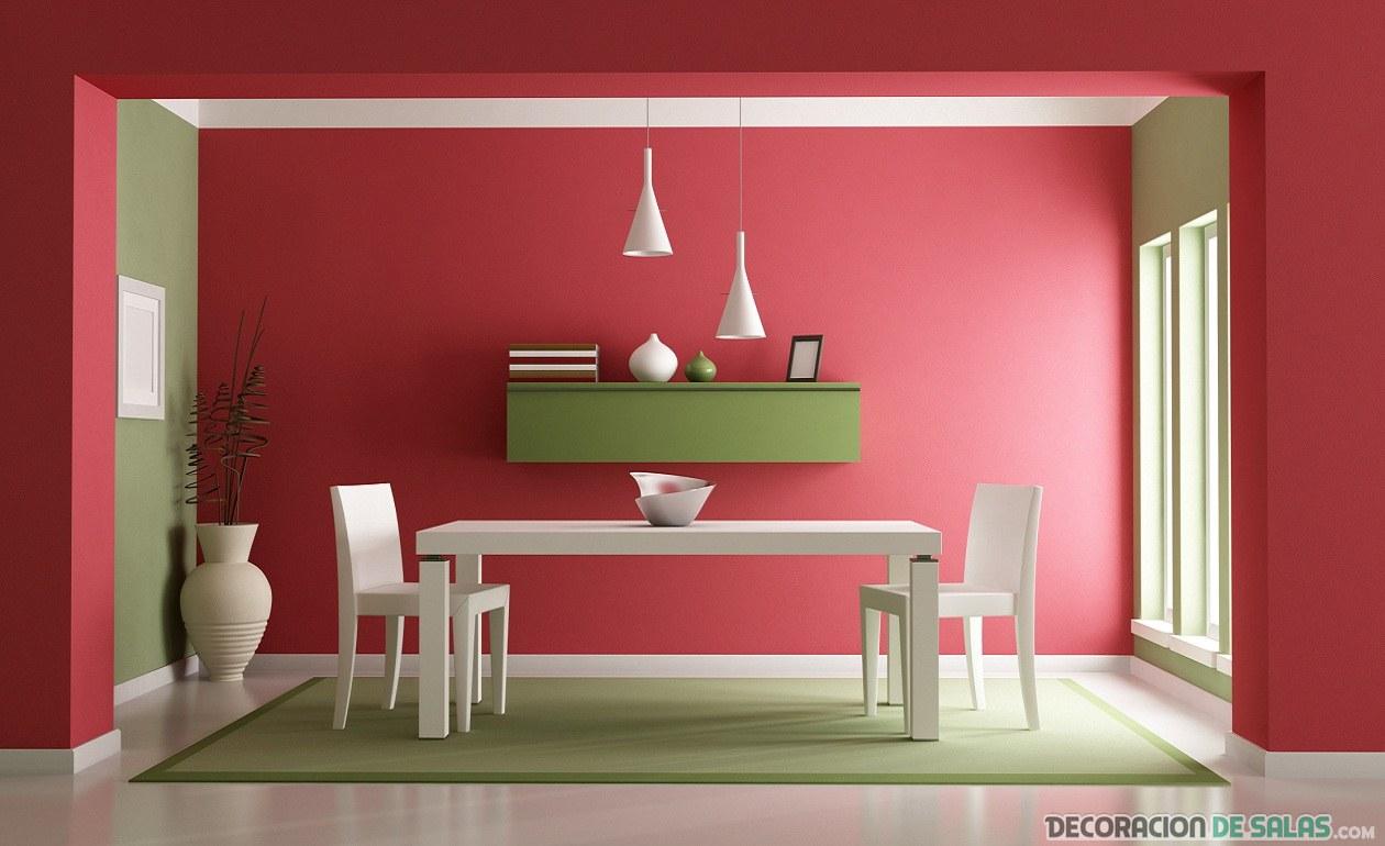 comedor moderno en color rojo