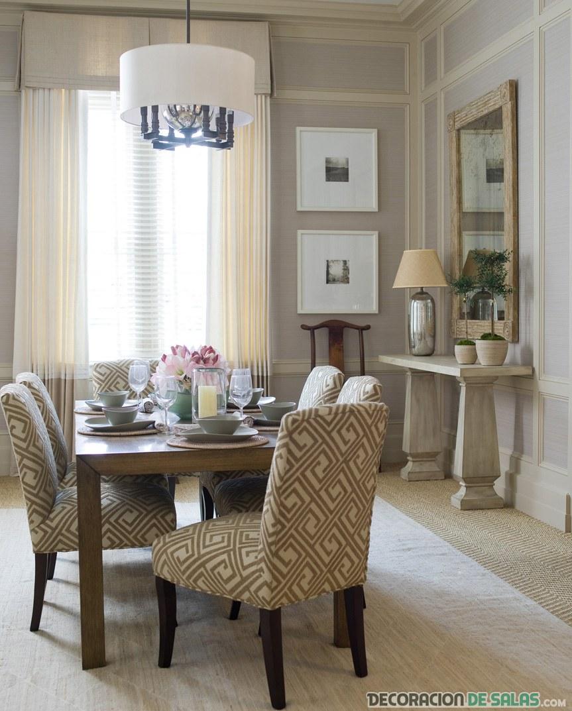 comedor moderno sillas tapizadas