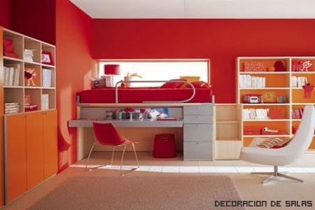 conjunto roja y naranja+