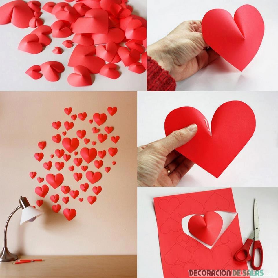 corazones de cartulina para decorar