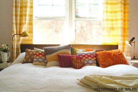 cortinas dormitorio amarillas
