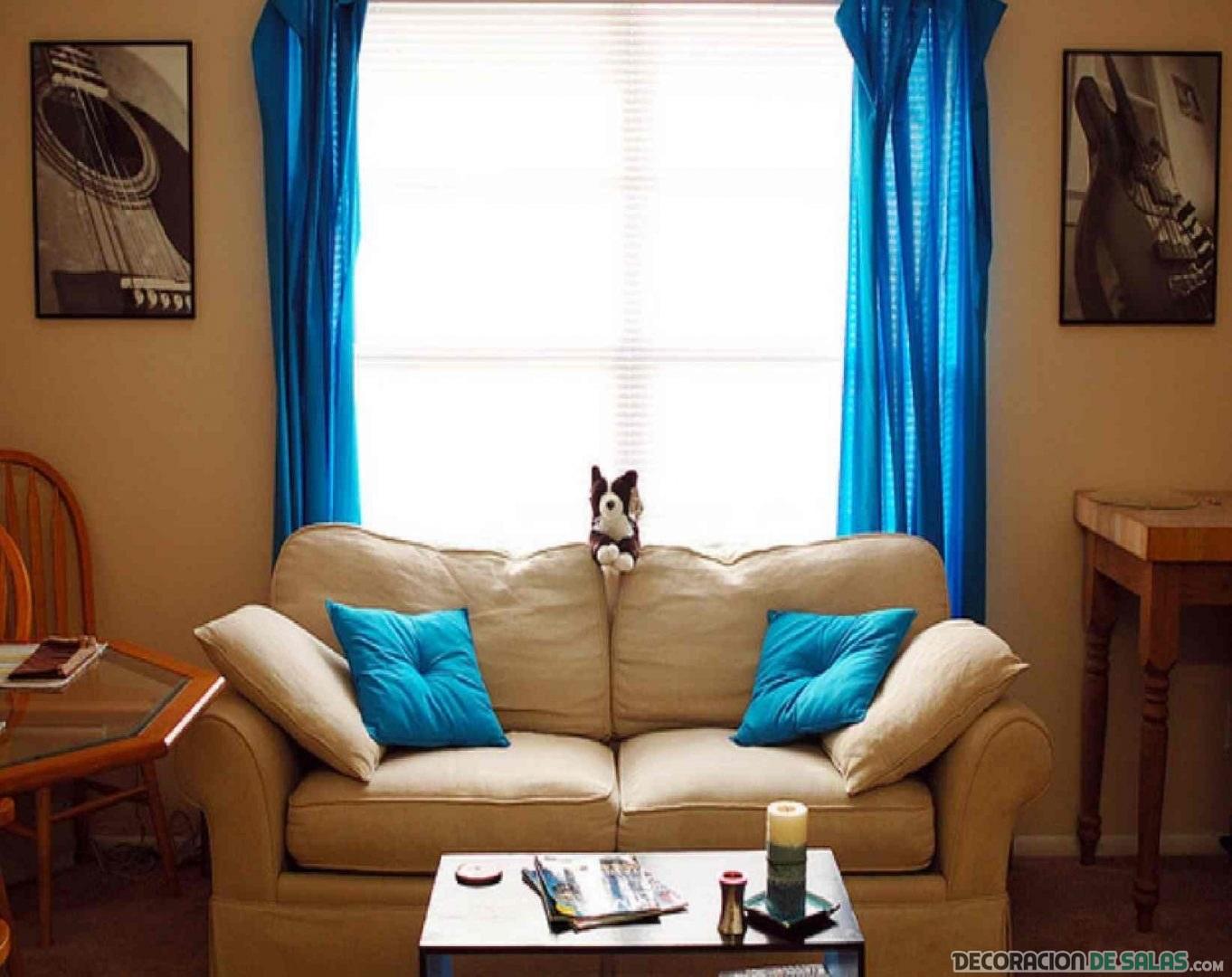 cortinas en color azul
