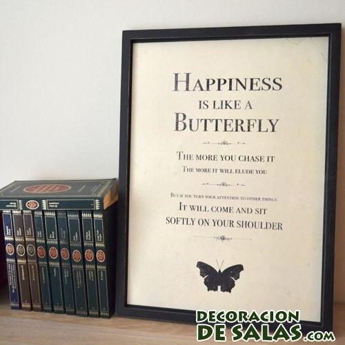 cuadro felicidad para decorar