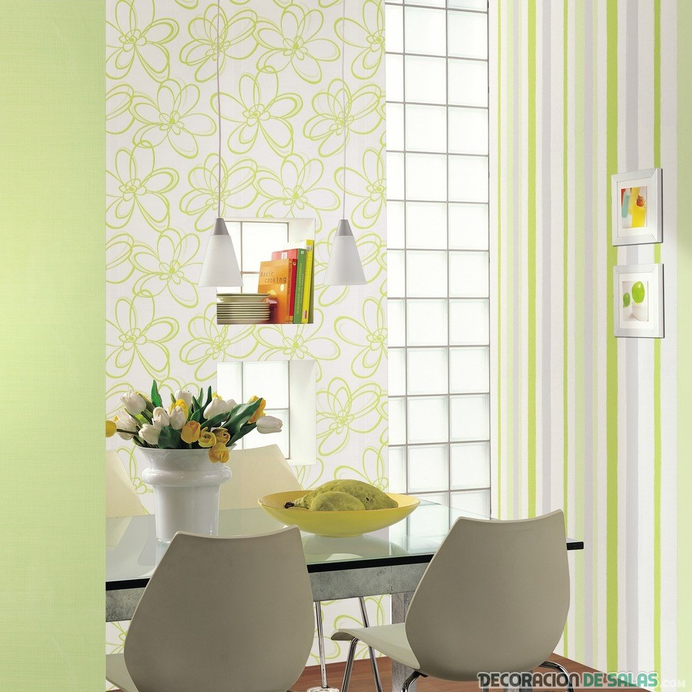 decoración de interiores en verde