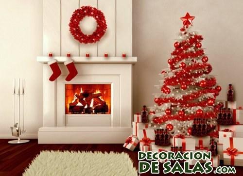 decoración de navidad en color rojo