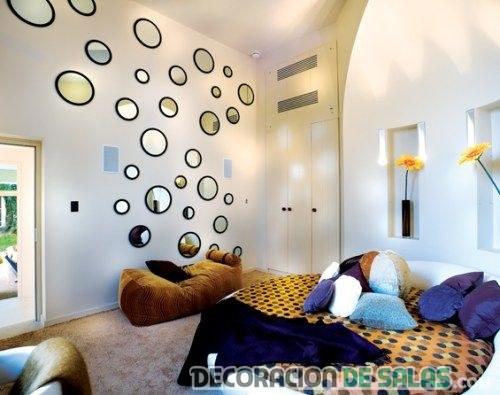 decoración de paredes original con espejos