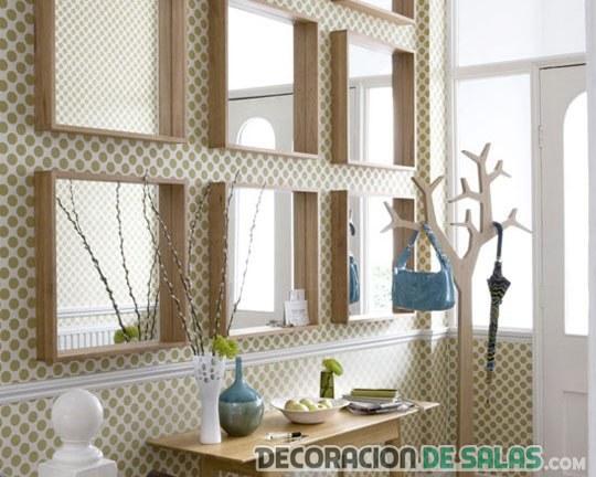 decoración de pasillos con cuadros