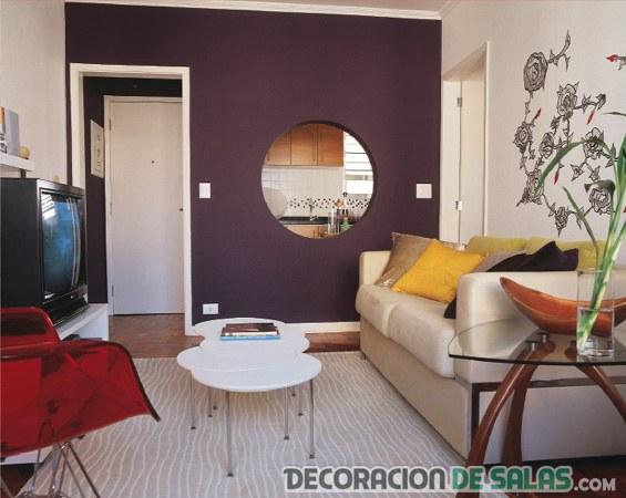 decoración de salas pequeñas con espejos