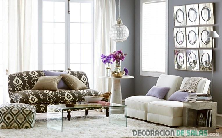 decoración de salón el gris